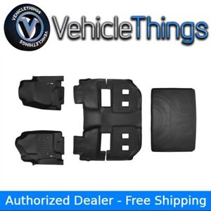All Weather Floor Mats Set And Cargo Liner Suburban Yukon Xl Bucket Seats Black