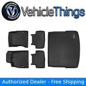 Maxliner Floor Mats And Cargo Liner Behind 2nd Row Black For Audi Q5 Sq5 2018