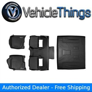 All Weather Floor Mats And Cargo Liner For Tahoe Yukon With Bucket Seat Black