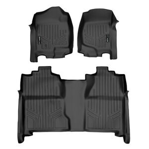 Maxfloormat All Weather Custom Fit Floor Mats Liner For Chevy Crew Cab Black