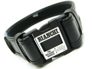 Bianchi Medium 34 40 Waist Black 7950 Accumold Elite Duty Belt New 22124