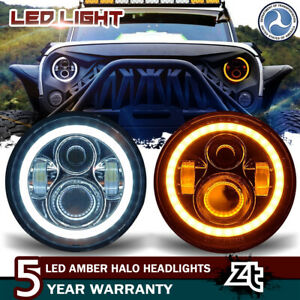 2pack 7 Inch 60w Cree Led Angel Eye Headlight For Jeep Wrangler Jk