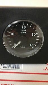 Vdo Siemens Tachometer 0 To 4000 Rpm s 24 Volt New Old Stock
