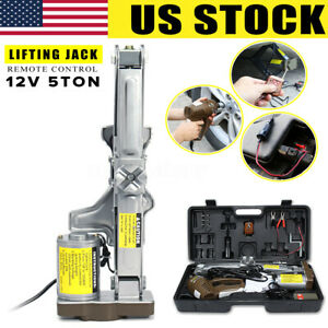 Us 5 Ton 12v Automatic Electric Scissor Car Jack Lift Garage Vehicle Tire Repair