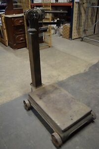 Vintage Antique Fairbanks Morse Portable Floor Scale Cast Iron