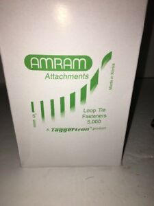 Amram Attachments Loop Tie Fasteners 3 1 2 Long 5000 rare new ships N 24 Hours