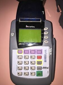 Verifone Omni 3200se Credit Card Reader Printer With Ac Adapter Power Supply