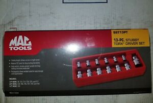 Brand New Mac Tools 13 Piece Stubby Torx Driver Set Torx Bits