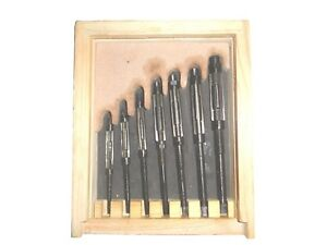 7pcs Adjustable Hand Reamers Hv To H3 1 4 To 15 32 fitted In Wooden Case