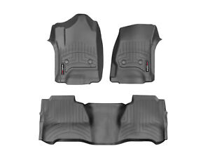 Weathertech Floorliner Mats For Silverado Sierra Crew Cab 3 Piece Set Black