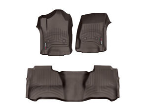 Weathertech Floorliner For Chevy Silverado Gmc Sierra Crew Cab 1st 2nd Row Cocoa
