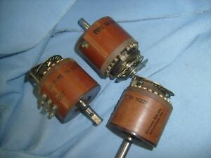 Shallcross Industrial Rotary Switch 15224 And Two Of 15227 3 Lot t5