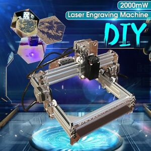 2000mw A5 17 X 20cm Diy Laser Engraving Engraver Cutter Logo Marking Printer Us