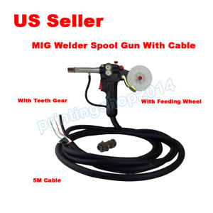 Mig Welder Spool Gun Push Pull Feeder Aluminum Welding Torch With 5m Cable