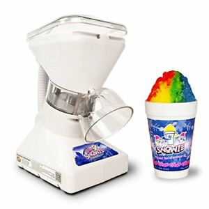 Little Snowie 2 Ice Shaver Premium Shaved Ice Snow Cone Machine W Syrup Samples