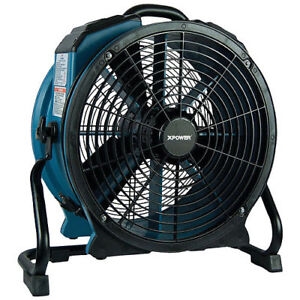 Xpower X 47atr Pro 3600 Cfm Axial Air Mover dryer fan W Timer And Power Outlets