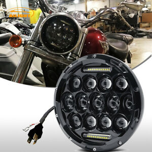 7 75w Led Headlight Projector Fit Honda Shadow Vt750 Vt1100 Vt600 Vf750