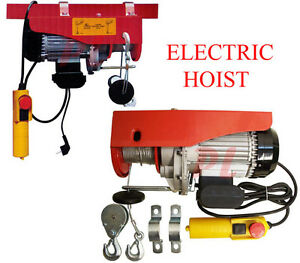 980w Electric Wire Rope Cable Hoist Lift Pulley 440 Lb 880lb Electric Hoist