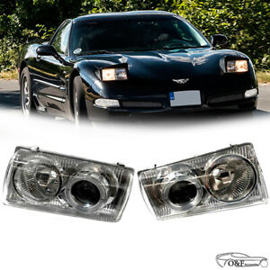 For 1997 2004 Chevy Corvette C5 Z06 Headlights Halo Projector Lamps Headlamps