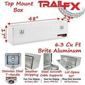 170481 Trailfx 48 Polished Aluminum Top Mount Truck Tool Box