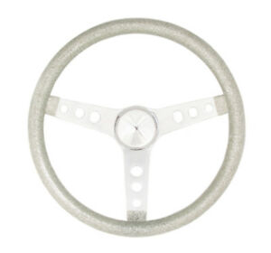 Grant Metal Flake Chrome Steel 11 1 2 In Diameter Steering Wheel P N 8424