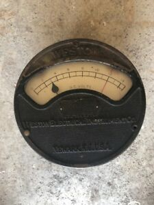 Vintage Antique Weston Electrical Instrument Model 24 Dc Voltmeter Volt Meter