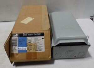 Midwest 70a 120 240v Outdoor Temporary Power Outlet U041gp Nib