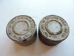 Vintage 1920 S 1930 S Packard Wire Wheel Center Hub Cap Grease Cap Pair