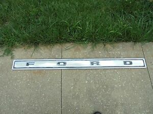Vintage Original Ford 1977 Truck Tail Gate Moulding Pickup