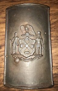 Rare 1880 S New York City Cast Iron Lamp Post Cover Industrial Nyc Plaque