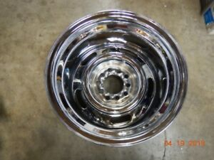 One 15x10 Chrome Rally Wheel Gm chevy ford mopar Camaro Malibu El Camino Nova Ss