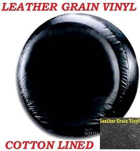 Lined Vinyl Spare Tire Cover 225 75r15 New Black 225 75 15 Leather Grain