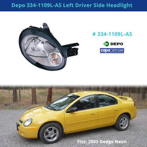 Depo 334 1109l as Left Driver Side Headlight fits 2003 Dodge Neon