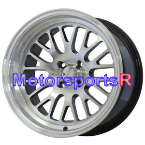 16x9 Xxr 531 Black Machine Face Deep Dish Step Lip Wheel Rim Stance 4x100 Et 0