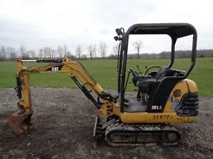 1999 Caterpillar 301 5 Excavator Orops 2 Speed Blade 7ft Max Dig 2 295hrs