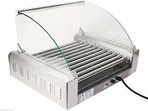 Kitchen Commercial 30 Hot Dog Maker 11 roller Stainless Sausage Grill Cooker Us
