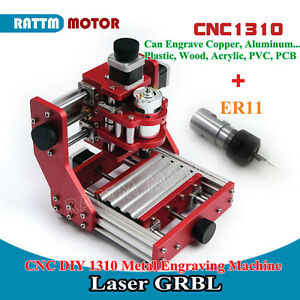 Cnc Diy 1310 Metal Engraving Cutting Pvc pcb aluminum Copper Machine er11 Collet