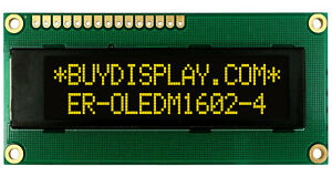 Yellow I2c Iic 16x2 1602 Oled Serial Character Display Module Screen For Arduino
