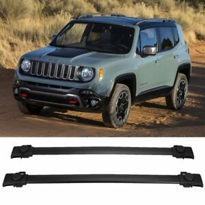 For Jeep Renegade 2014 2018 Black Roof Rack Cross Bars Luggage Carrier Oe Style