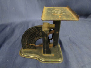 Antique Tole Painted Triner Reliance Postal Scale 1900 S