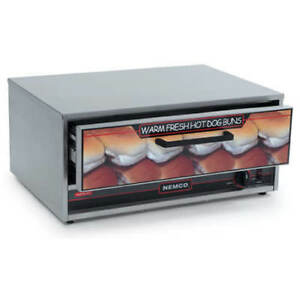 Nemco 8055 bw Hot Dog Bun Warmer For 8055 Roller Grill 64 Bun Capacity