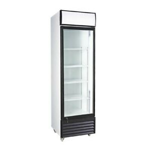 12 7 Cubic Ft Glass Door Upright Display Beverage Cooler free Shipping