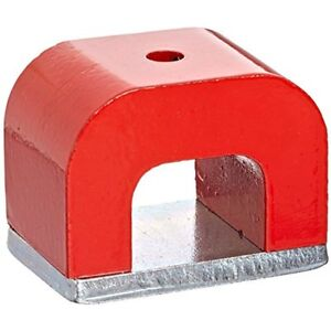 Aomag 30 Lbs Red Cast Horseshoe Heavy duty Alnico Power Magnets For Education