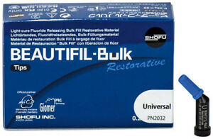 Beautifil bulk Restorative Shade Universal 0 25g X 20 Tips Shofu