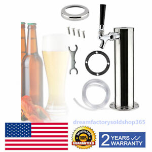 Single One Tap Stainless Steel Draft Beer Tower Kegerator Chrome Faucets Usa