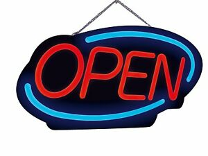 Ultra bright Flashing Neon Led Open Sign Energy Efficient For Shop Windows Bars