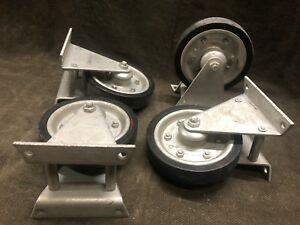 4 Jarvis Jarvis 6 Heavy Duty 500lb Casters Wheels