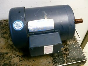 Leeson Ac Motor C145t17fb59b 1 5hp 1800rpm 208 230 460v 4 5 4 4 2 2a 60hz Used