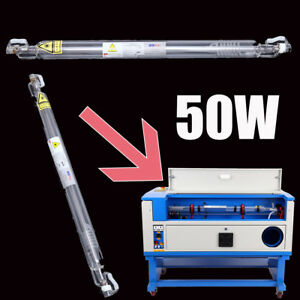 50w Co2 Laser Tube Glass Pipe 710mm For Cutting Engraving Machine