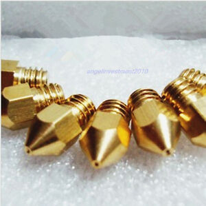 10pcs Reprap 3d Printer 0 25mm Brass Nozzle J head Hot End Makerbot Prusa Mendel